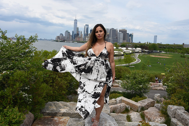 Picture Taken At Governors Island In New York City Of Model Carolina. Photo Taken Sunday May 16, 2021