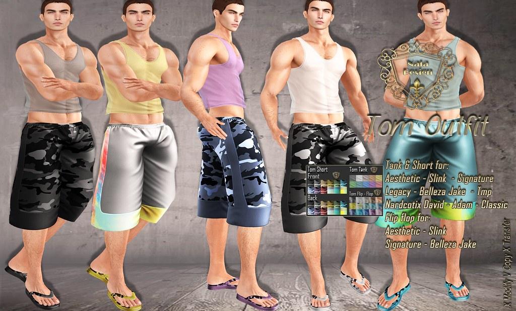 Nala Design – New Release – Tom Outfit [Tank – Short – FlipFlops]