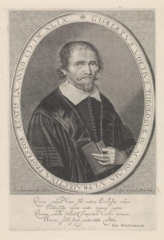 gravure Voetius door Steven van Lamsweerde 1649 (Rijksmuseum)