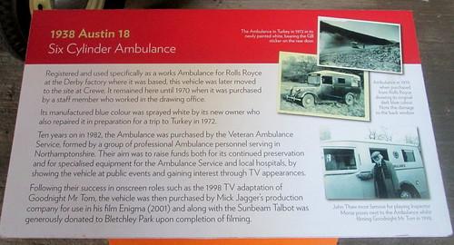 Austin Ambulance Information Board, Bletchley Park