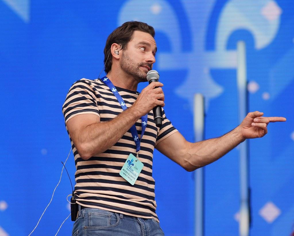 Guillaume Lemay-Thivierge, Répétition, Spectacle Saint-Jean, Place des Festivals, Sony A99, Montréal, 23 juin 2018 (14)