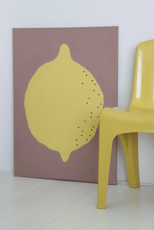lemon on moroccan pink