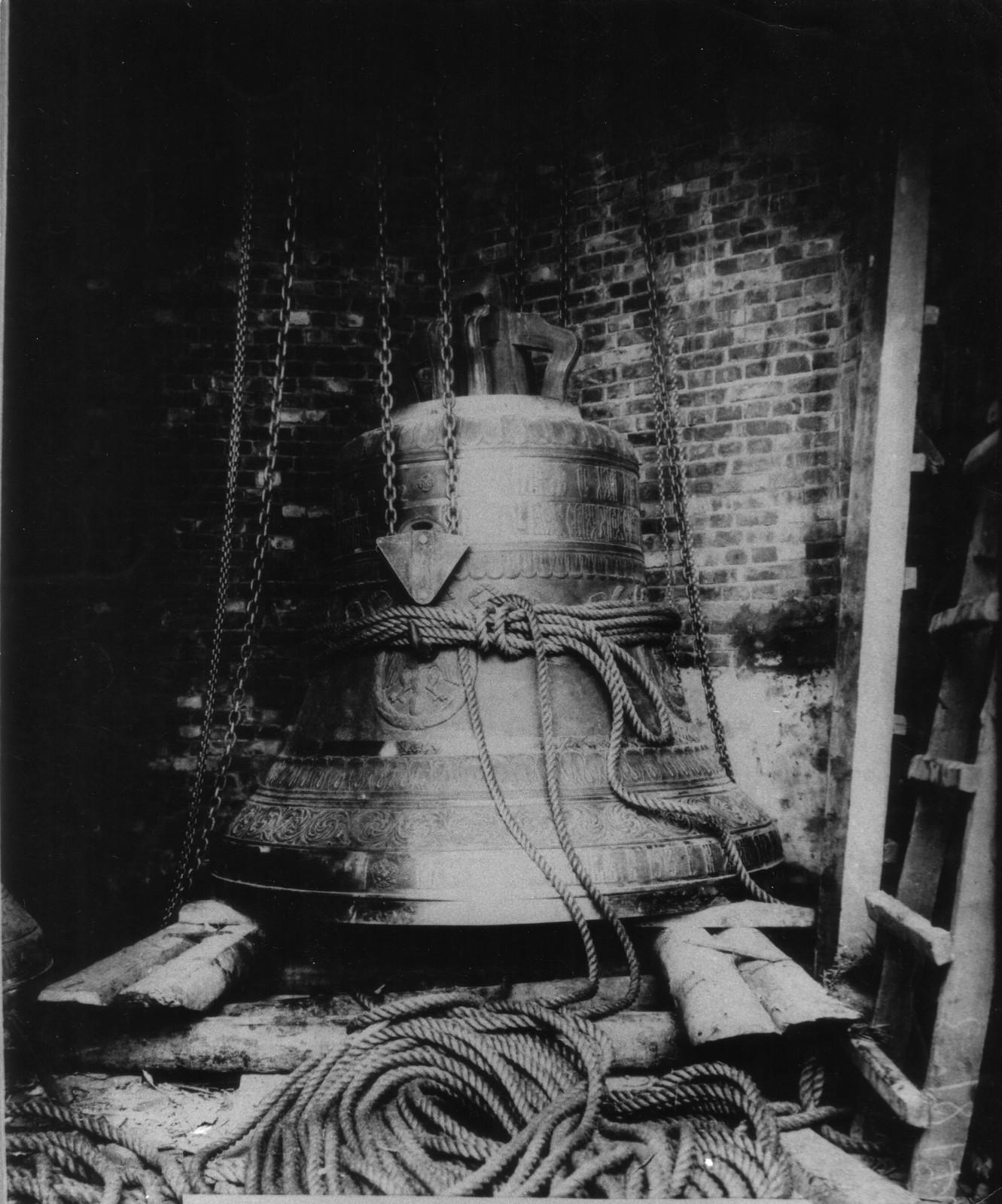 11. 1914. Подъем большого колокола на звонницу храма