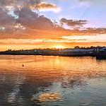 Sunset cloud reflections at Preston Docks