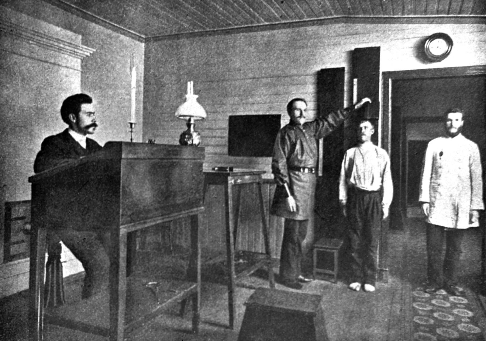 1905. Антропометрическое отделение Санкт-Петербургской сыскной полиции