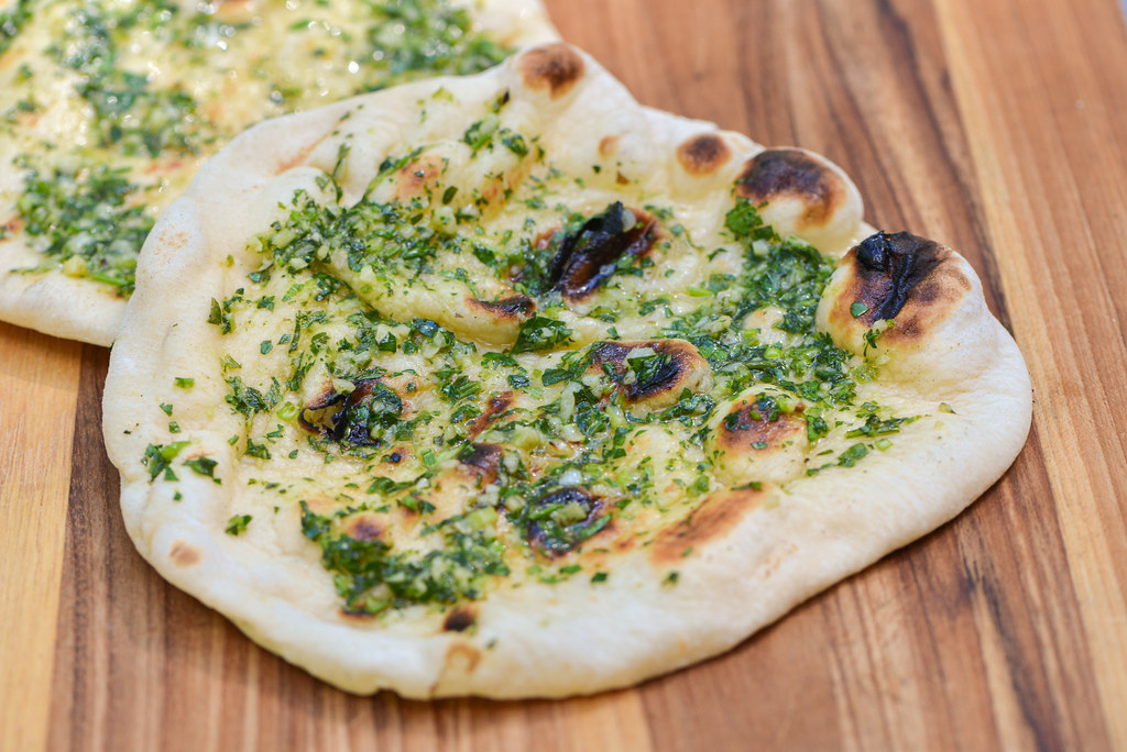 Garlic and Herb Grilled Flatbread