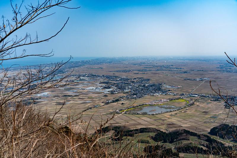 角田山から新潟市