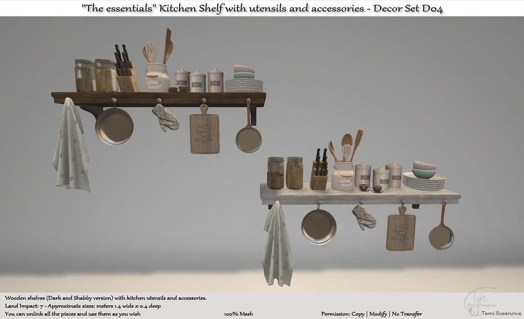 """.:Tm:.Creation """"The essentials"""" Kitchen Shelf Set D04"""