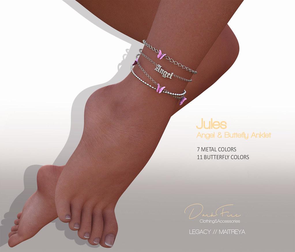 DarkFire Jules Angel & Butterfly Anklet