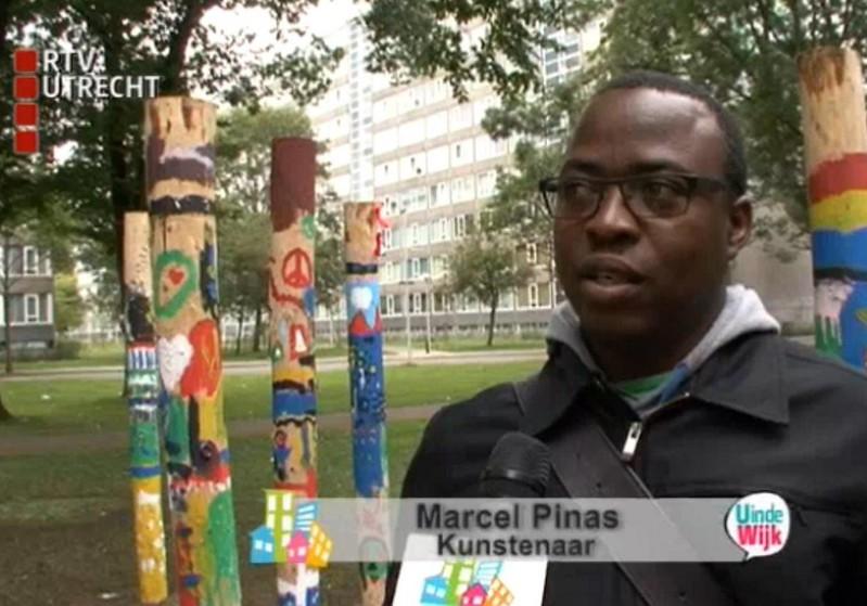 Marcel Pinas bij RVT Utrecht tijdens Artist in Residency 2012 (Kosmopolis Utrecht)