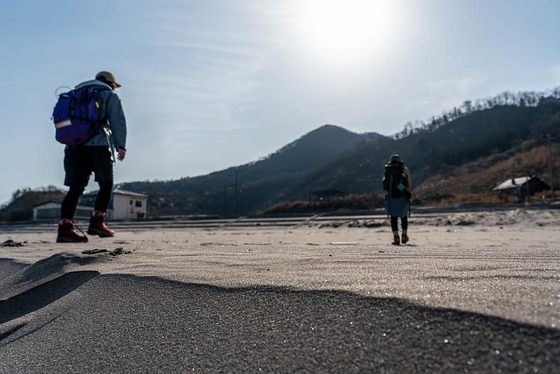角田浜から登山開始