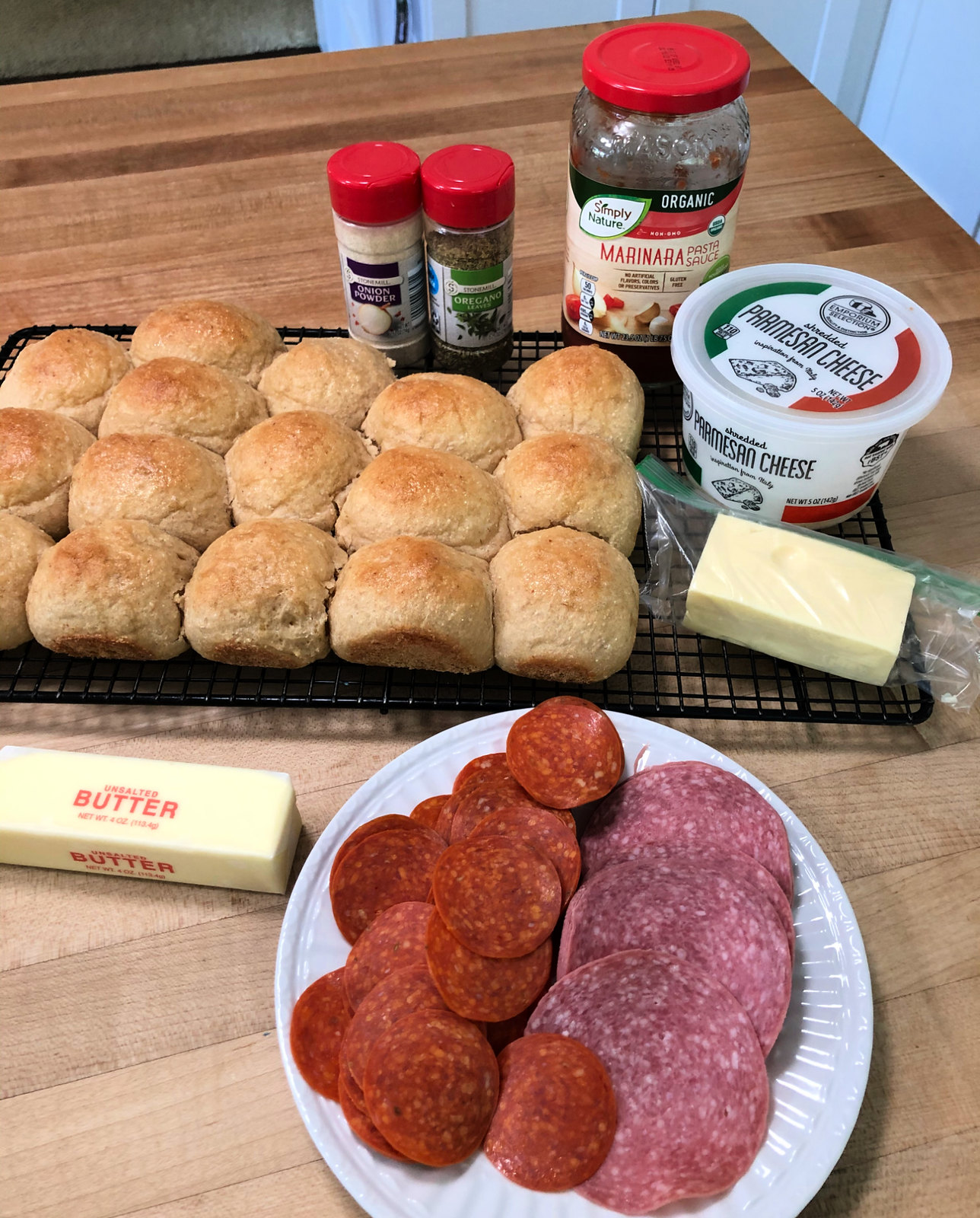 ingredients for pizza sliders