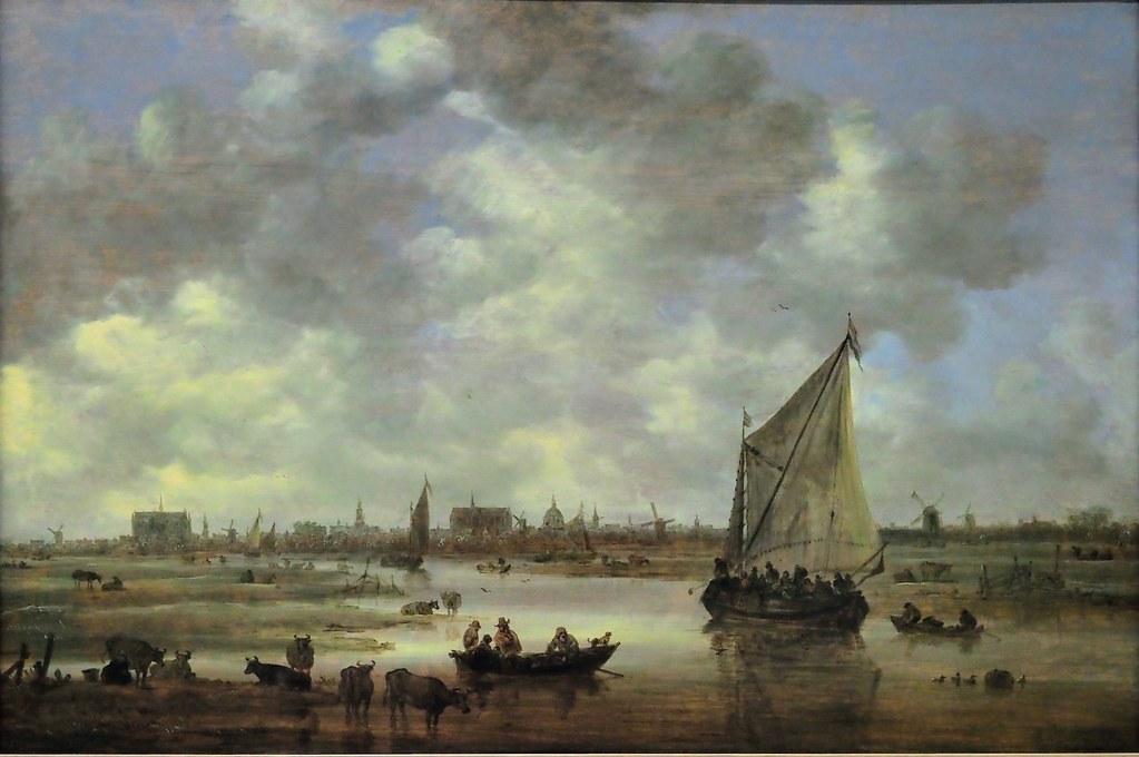 View of Leiden painted by Jan van Goyen around 1650