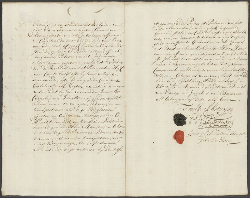 Handtekening Sara Sibilla van Hengst