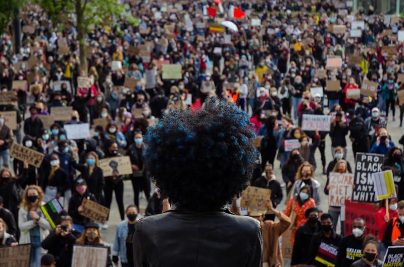 BLM demo Utrecht 5 juni (Myrthe Minnaert)