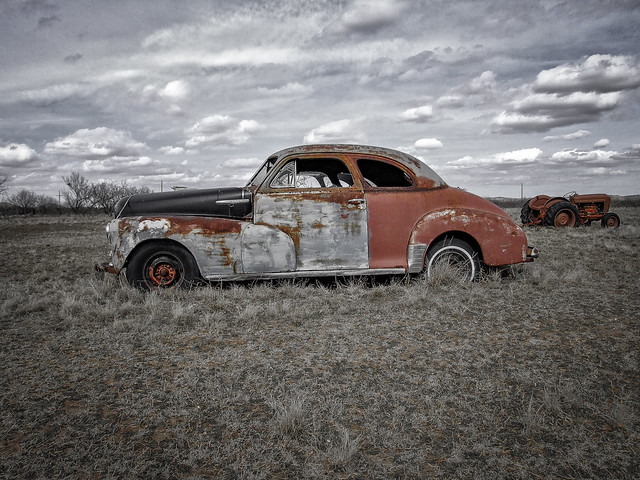 Chevrolet in Field - Texas