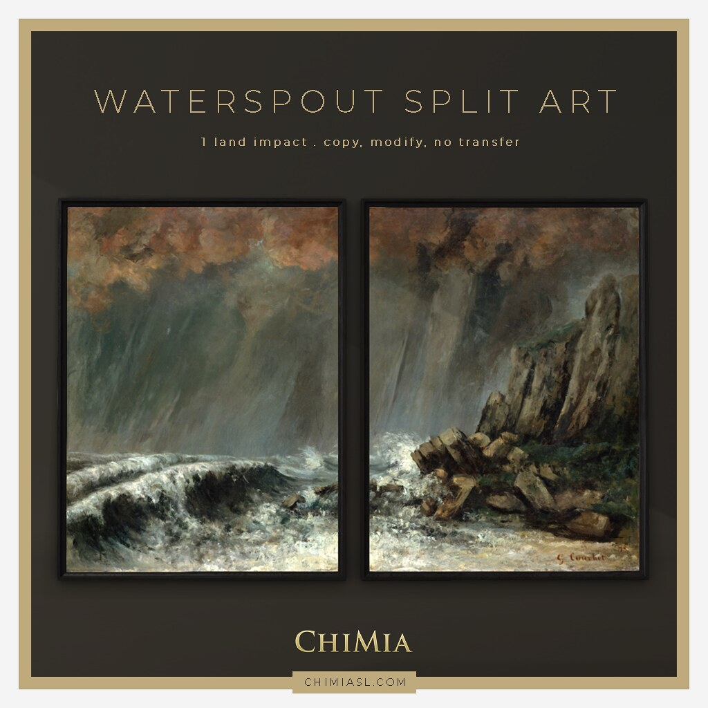 Waterspout Split Art Frame for Mournful Monday by ChiMia