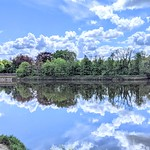 Cloud reflections on the Ribble at Preston