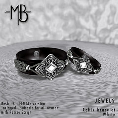 Celtic bracelet White FEMALE w