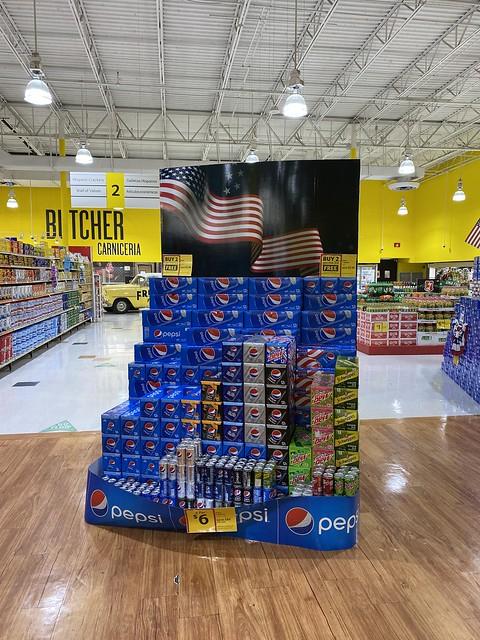 Pepsi Memorial Day Display Fresco y Mas Miami