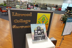 Linwood College Showcase display, Linwood Library