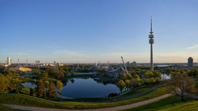 Sunrise Panorama at Olympic Park - Munich, Bavaria