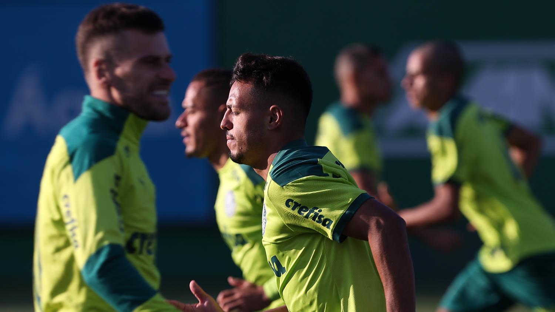 Gabriel Menino é novidade do treino do Verdão antes da Libertadores; veja provável escalação - Palmeiras