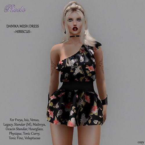 NEW GROUP GIFT!!! *P* Danika Mesh Dress ~Hibiscus~