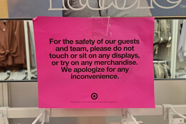 Pandemic-related signage at Target [05]