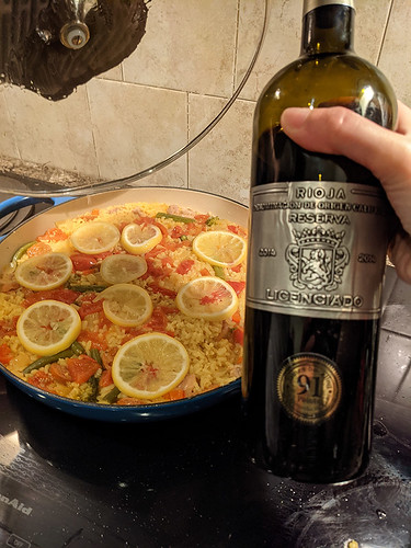 the doomed paella w/ a lovely wine