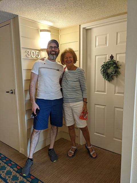 visiting Aunt Joy's new place