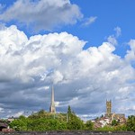 Fluffy clouds over Preston
