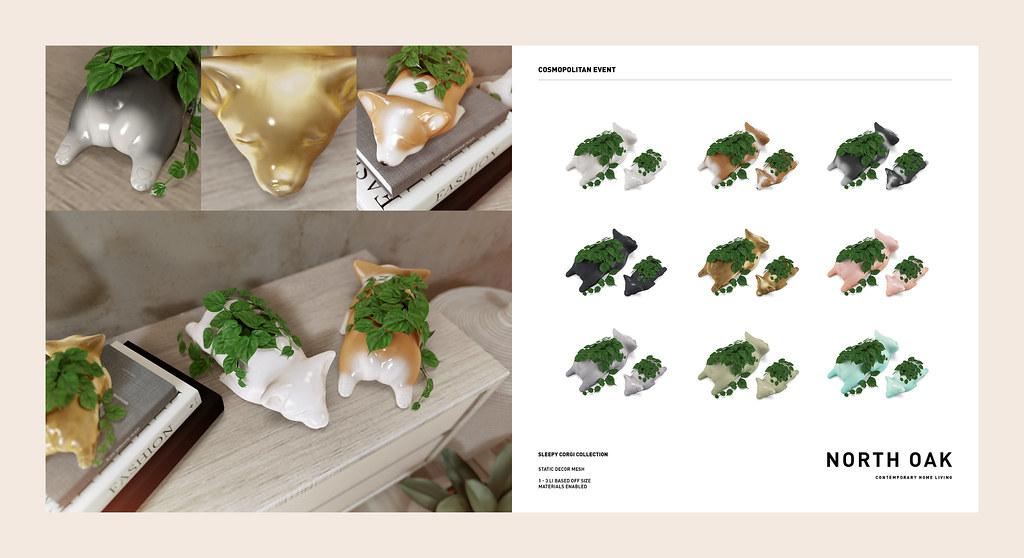 [North Oak] + Sleepy Corgi Planters / Cosmopolitan Event