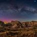 Milky Way Arch in Moonlight over Dinosaur Park