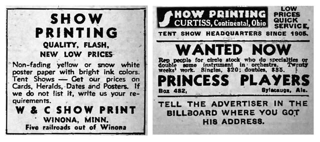 Show Print Classified Ads