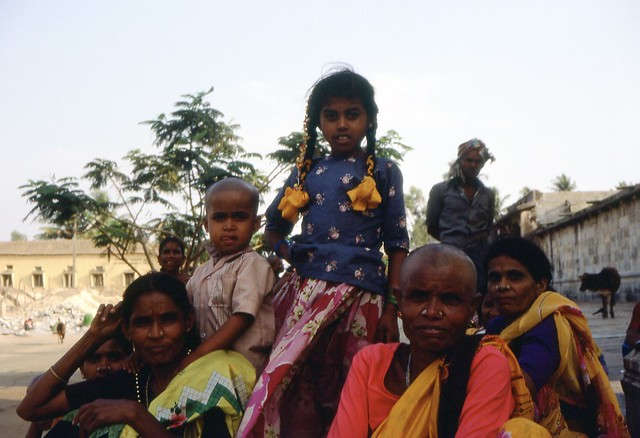 Hindu Pilgrims at Beluru Temple, Karnataka 1987