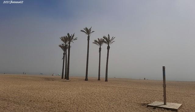 Bruma en la Playa de la Bajadilla