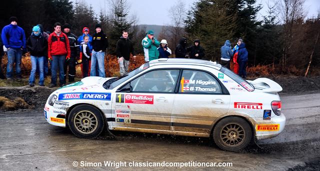 2009 Subaru Impreza STi N11 Spec C Mark Higgins Bryan Thomas 2nd Bulldog Rally of North Wales 2009
