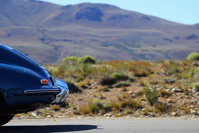 I think I saw a blue Porsche...
