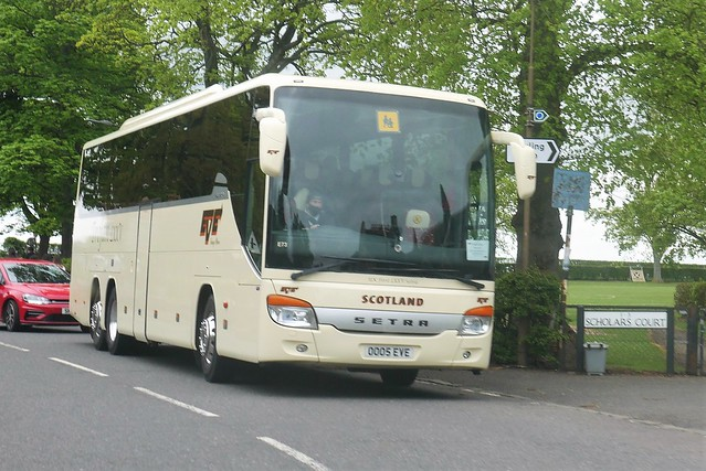 Eve Coaches of Dunbar Setra S415 GT-HD OO05EVE E73, formerly BK11CPE and V5EVE, at Pencaitland on 14 May 2021.