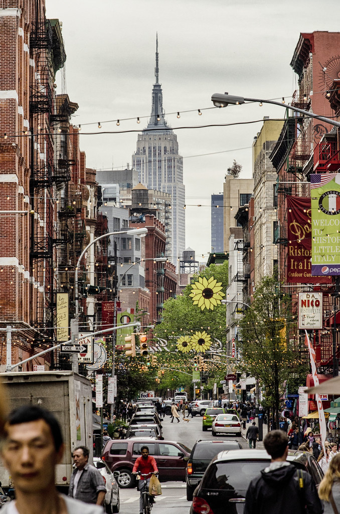Empire State Bldg from Mulberry St