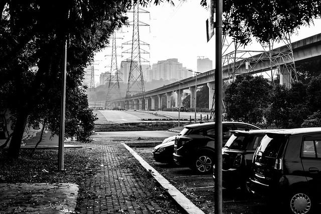 LRT track near Taman Jaya Park