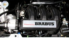 """""""Powered by Brabus"""" - engine decor plate - for fortwo 450 & roadster 452"""