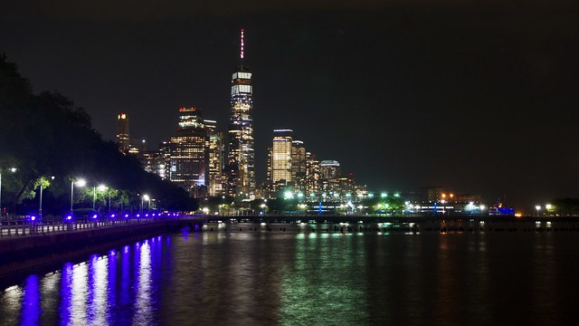 Downtown Manhattan (Freedom night) - New York City