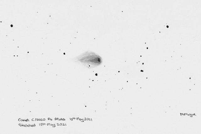Comet C/2020 R4 ATLAS Pencil Sketch
