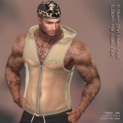 E.Storm Shirt Male. Nick E.Storm Hat male. Nick