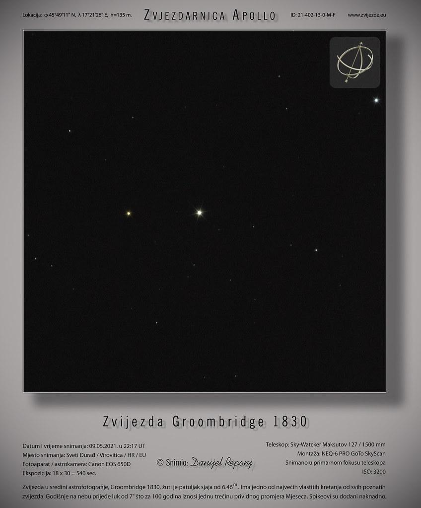 Zvijezda Groombridge 1830, 9.5.2021.