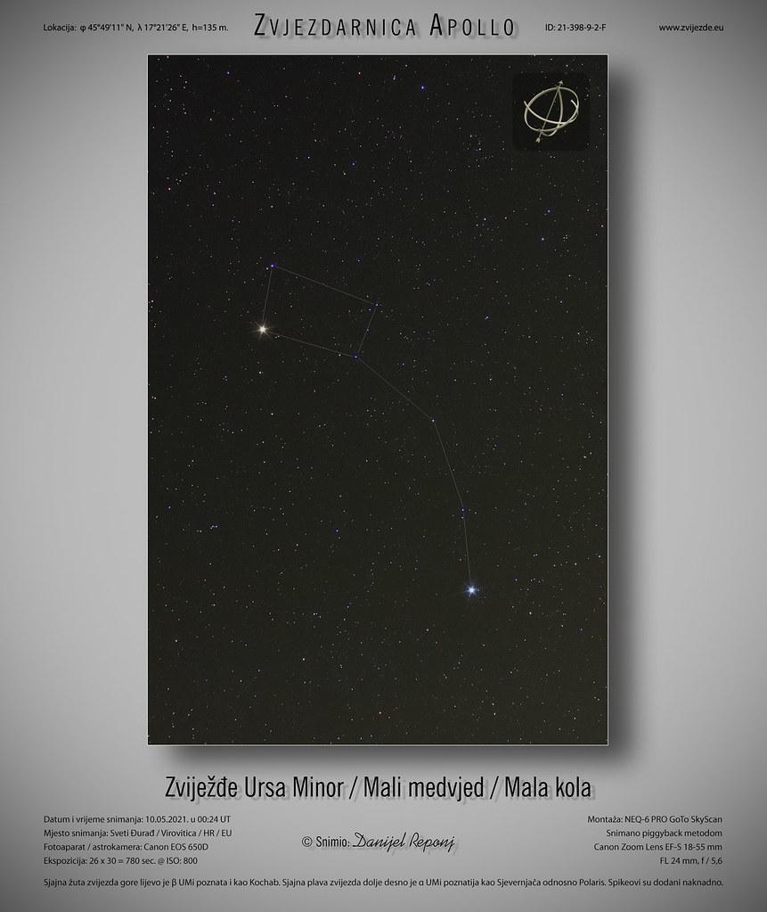 Zviježđe Mali medvjed, 10.5.2021.