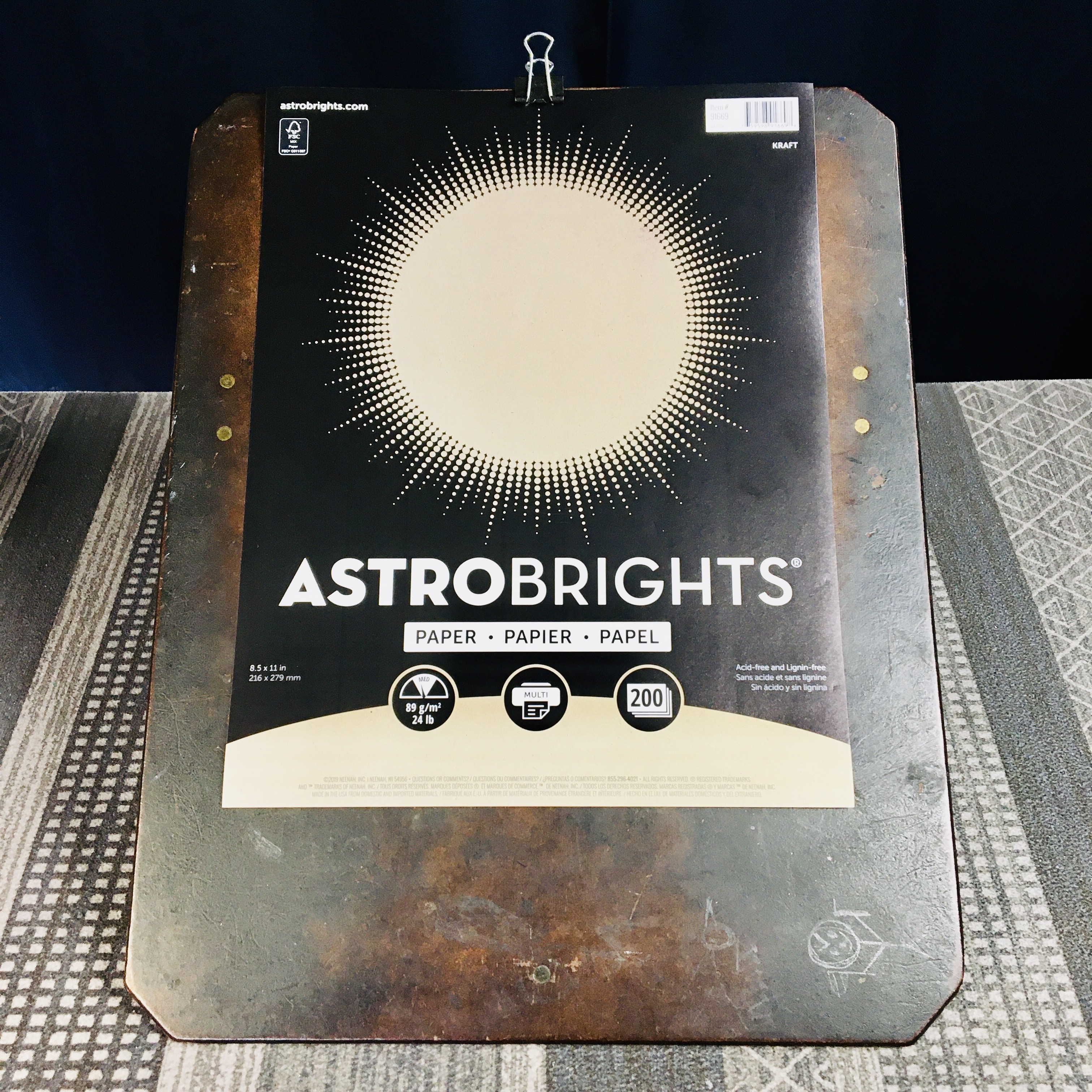 Staples Astrobrights Kraft 24# Paper