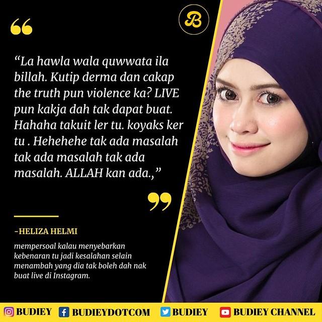 Akaun Instagram Heliza Helmi Mungkin Kena Padam, Buka IG Baru Sebagai Back Up